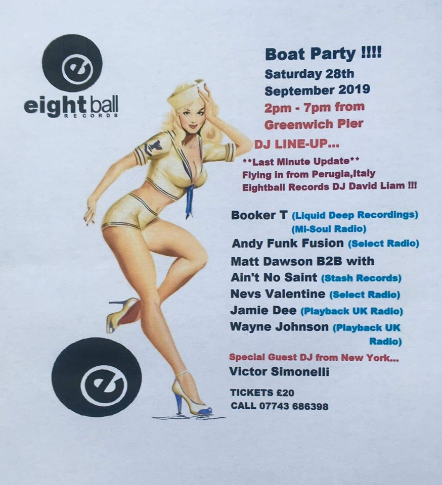 Eightball Records - Boat Party - London